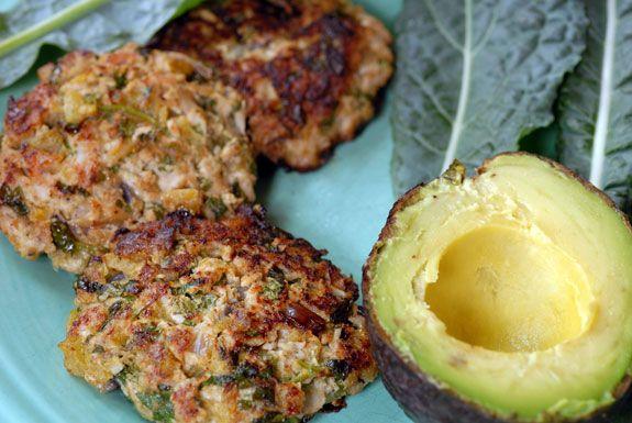 Green Chili Turkey Burgers | Elana's Pantry