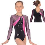 The Zone Scribble Long Sleeved Gymnastics Leotard new for Spring 2014 collection in stock now at Dancemania