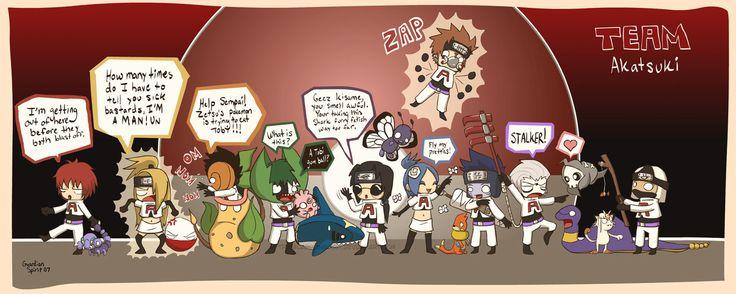 Naruto Shippuden » Humor » Comic | Crossover Pokemon, Team ...