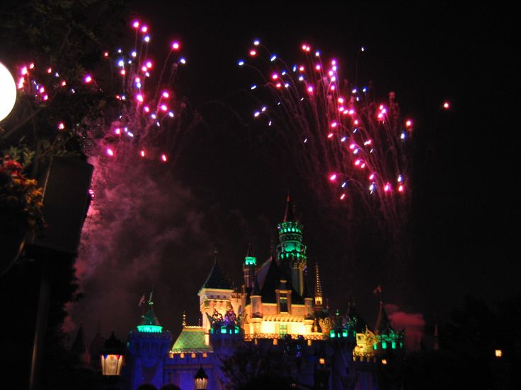 Disneyland - fireworks -the Disney resort, Anaheim