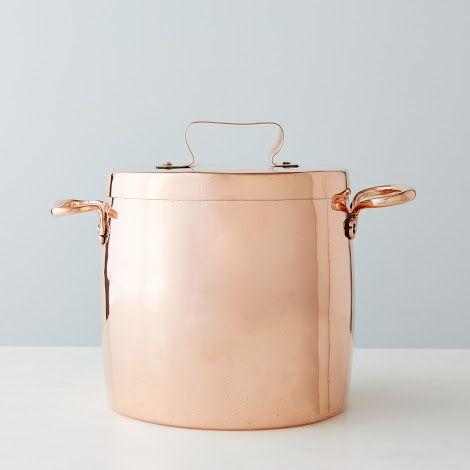 Pot en cuivre (Angleterre) / English Stock Pot, Early #copper, #cuivre, #rame, #kupfer, #cobre