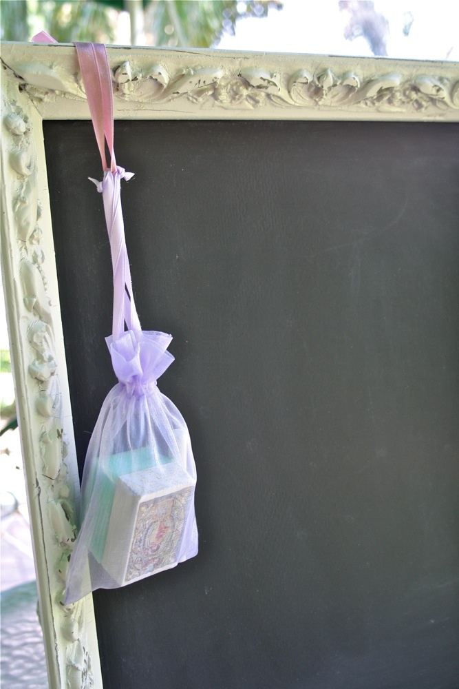 The Polka Dot Closet add a homemade eraser and piece of chalk to all blackboards for sale.