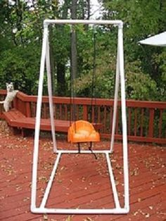 PVC baby swing. Great project for all the plumbers in our family!