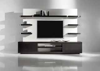 Modern TV Wall Unit. Lean and Clean look!