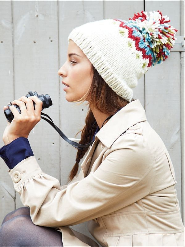 Figgi Yarns Fair Isle & Nordic Knits, Fair Isle Bobble Hat, Patterns, Laughing Hens