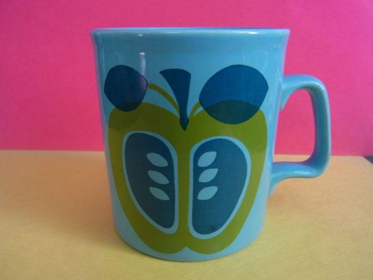 Retro Staffordshire potteries Ltd mug 1960s 1970s Apple
