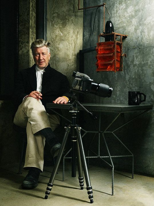 David Lynch and a stunning hasselblad on a tripod.