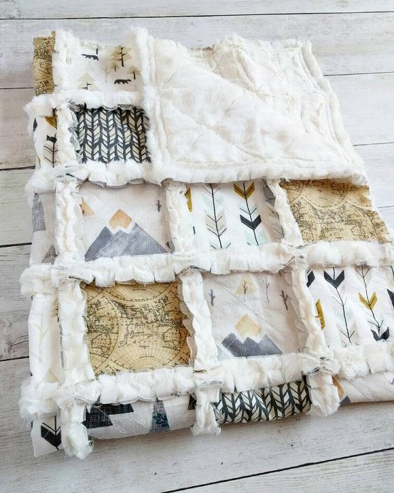 Hey, I found this really awesome Etsy listing at https://www.etsy.com/listing/456573800/mountain-woodland-minky-rag-quilt