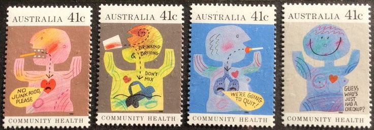 1990 Community Health 41c Complete Set of 4 MUH in Stamps, Australia, By Type   eBay!