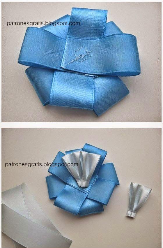 Cómo hacer una escarapela argentina con cintas y perlas
