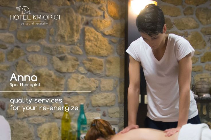 Anna - Spa Therapist !! You holidays #hotel in #Halkidiki #Greece  http://kriopigibeach.gr/