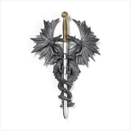 Dragon Dagger Wall Plaque Manufacturer: Home Locomotion SBEX36247 $24.20