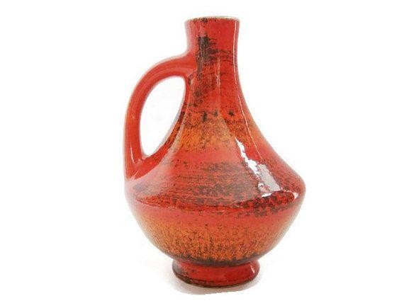 Vintage ceramic vase Bay 67 17 West German Pottery by VintageBreda
