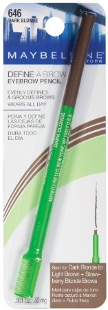 Amazon.com: Maybelline New York Define-A-Brow Eyebrow Pencil, 646 Dark Blonde, 0.0010 Ounce: Beauty - Dupe for MAC Lingering