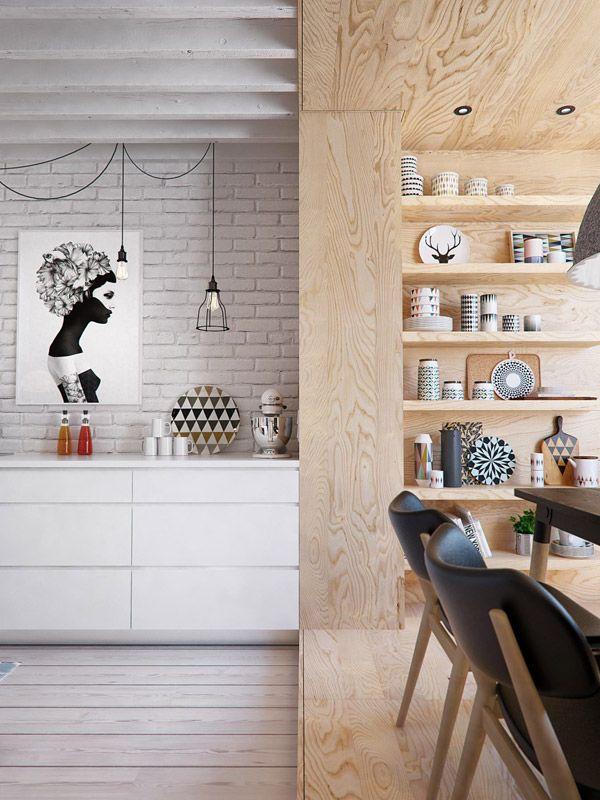 apartment by Russian architecture and design firm INT2 architecture via InteriorDI - desire to inspire