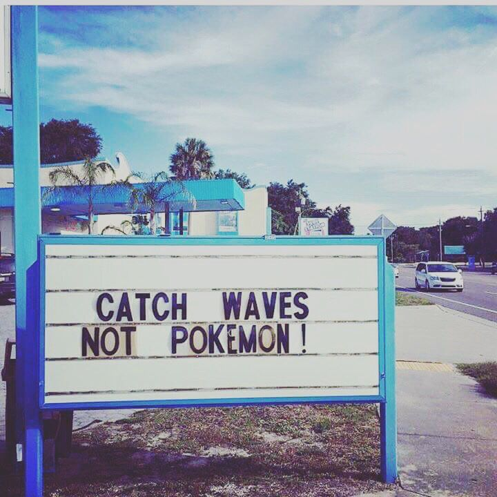 We don't know how we feel about this!?!?!?!??!?? #pokemongo #welovewaves #beachy #surfsup