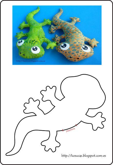 Kosucas : Reptiles de tela: lagartos y serpientes. Patrones.