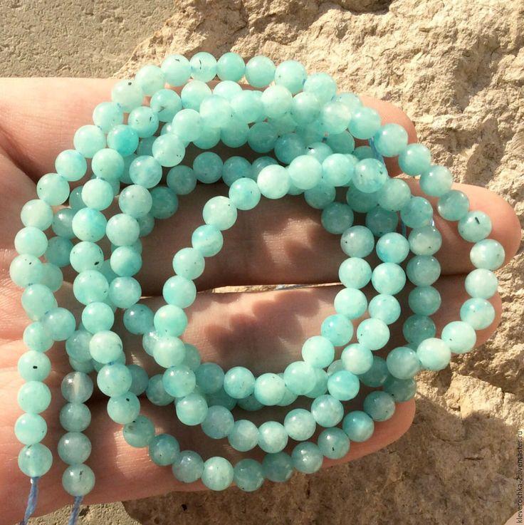 Купить Амазонит 5 мм шар гладкий бусины камни для украшений - бусины амазонит камни