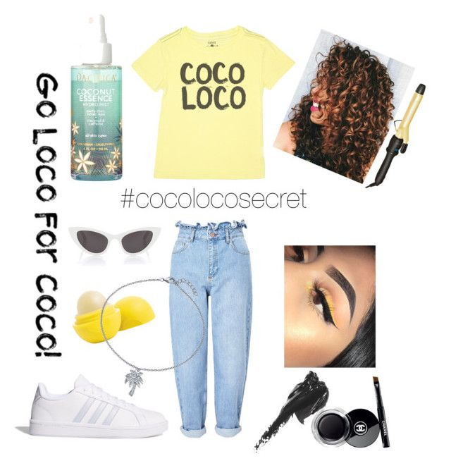 """COCO LOCO"" by kaoutar-rayour on Polyvore featuring Feather 4 Arrow, Miss Selfridge, adidas, Bio Ionic, Anastasia Beverly Hills, Chanel, Bobbi Brown Cosmetics, Yves Saint Laurent, Bling Jewelry and Summer"