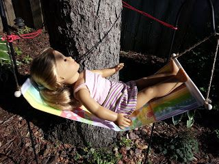 """American Girl Doll Crafts and Fun!: How to make an 18"""" doll hammock"""
