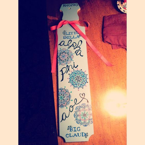 Sorority Paddles | Alpha Phi | Cute! #alphaphi #aoe #paddle #sorority #biglittle: