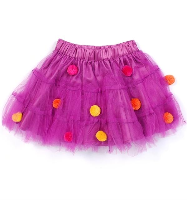 Plum tulle nederdel fra ej sikke lej
