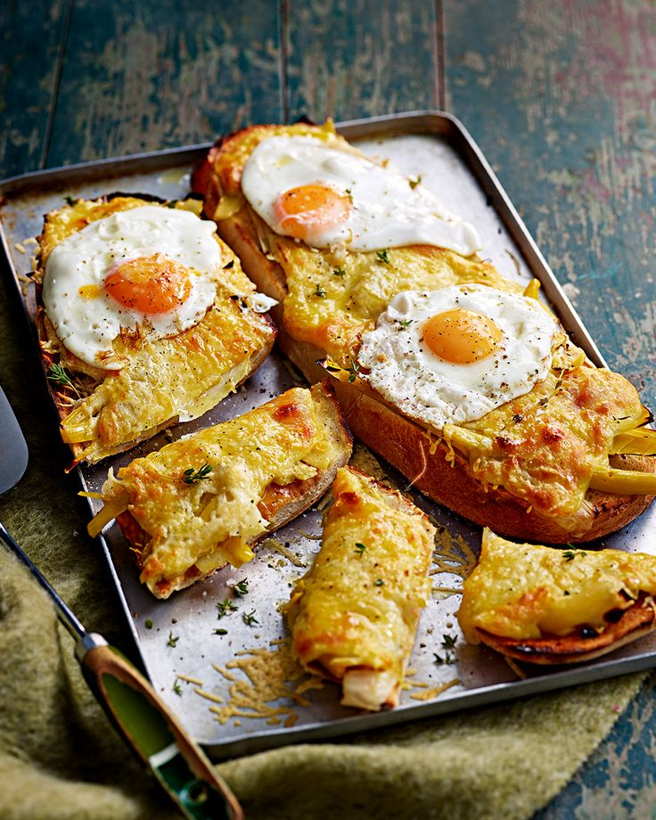 Everything is better with a fried egg on it – right? Try this decadent twist on Welsh rarebit with with sweet and buttery braised leeks and plenty of good, mature cheddar.