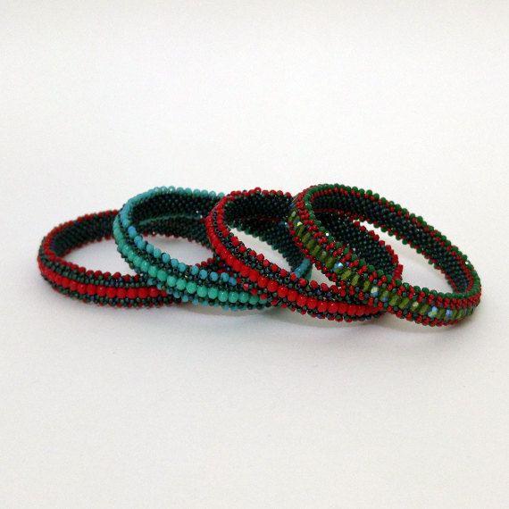 Tutorial Beaded Right Angle Weave-Beaded by CrochetBeadRopes