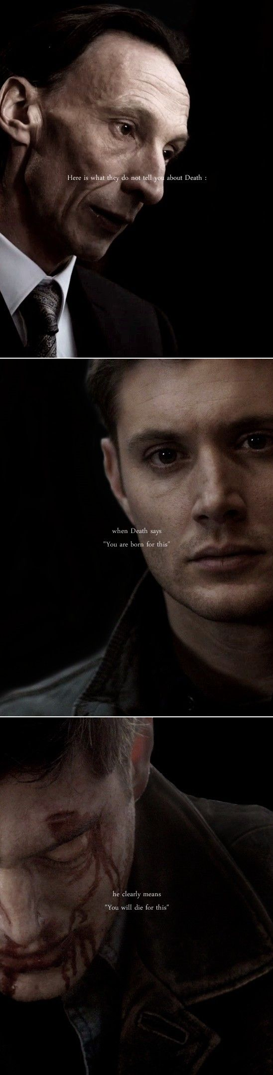 "Dean Winchester: ""But then again… nothing ever really ends, does it ?""  #spn"