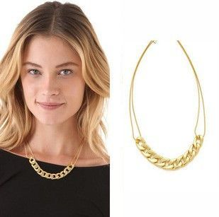 Punk Gold Plated Chain Short Necklace