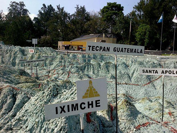 Guía Turística – Mapa en Relieve de Guatemala