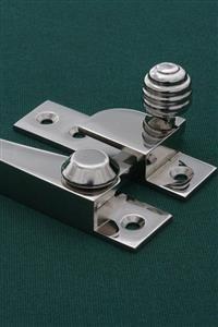Sash window hardware in period designs in nickel plated brass. Sash locks, sash lifts, sash fasteners and sash window handles. www.priorsrec.co.uk