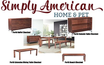 Perth Dining Collection! Simplistic style, made from