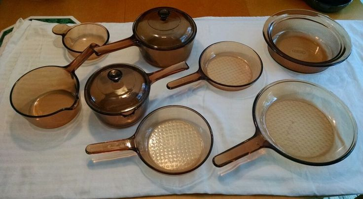 10 pc. Vision Corning Lot Pyrex cookware casserole frying pan sauce pan + lid in Corning Ware, Corelle | eBay