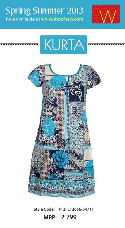 Can you afford to miss floral prints this season? Of course not! Check out our Spring Summer Collection for florals and more!  #Clothing #Fashion #Style #Kurta #Wear #Colors #Apparel #Semiformal #Print #Casuals #W for #Woman