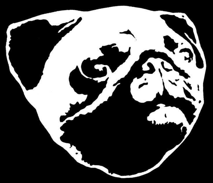 Pug Face Stencil Le Edits Pinterest Face Stencils