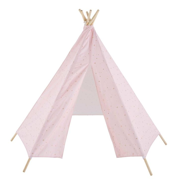 children 39 s light pink teepee with gold motifs the wish. Black Bedroom Furniture Sets. Home Design Ideas