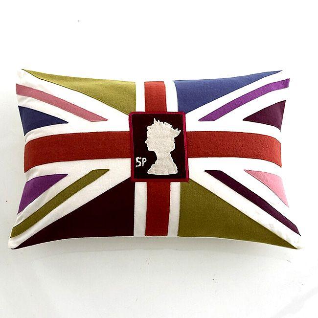 Union Jack stamp cushion