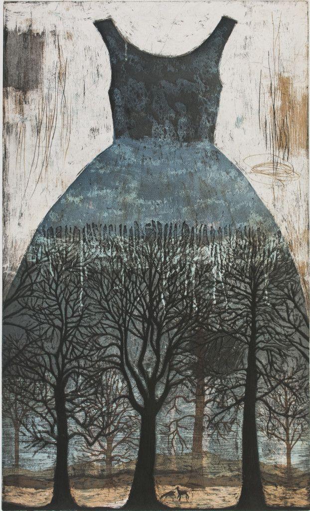 Blue - dress - tree - Kirsi Neuvonen