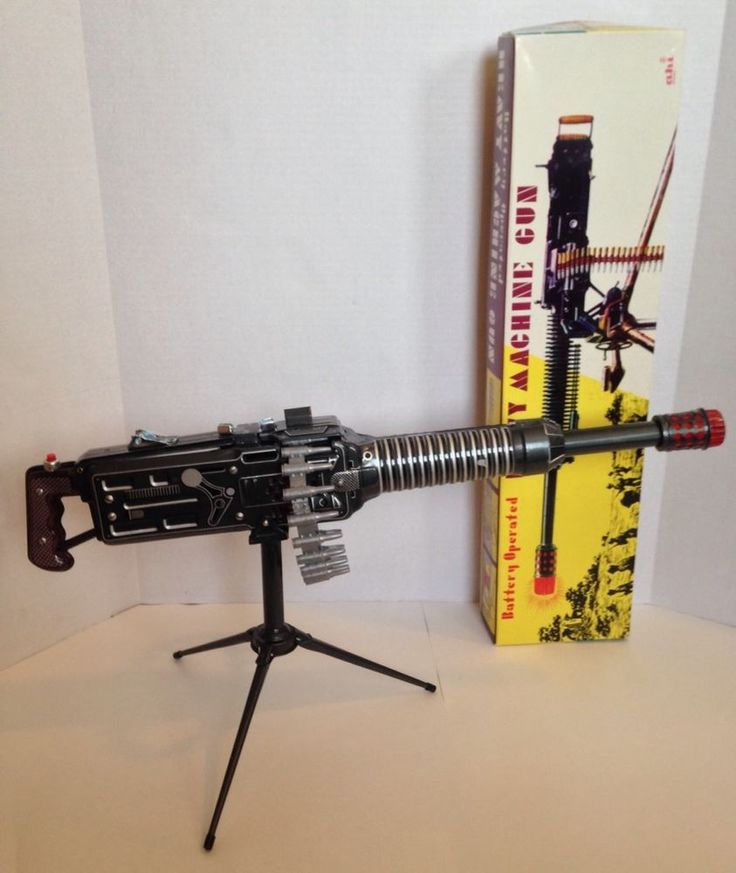 Useful idea Vintage toy wooden machine gun have thought