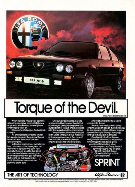 Alfa Romeo Sprint Car Advert