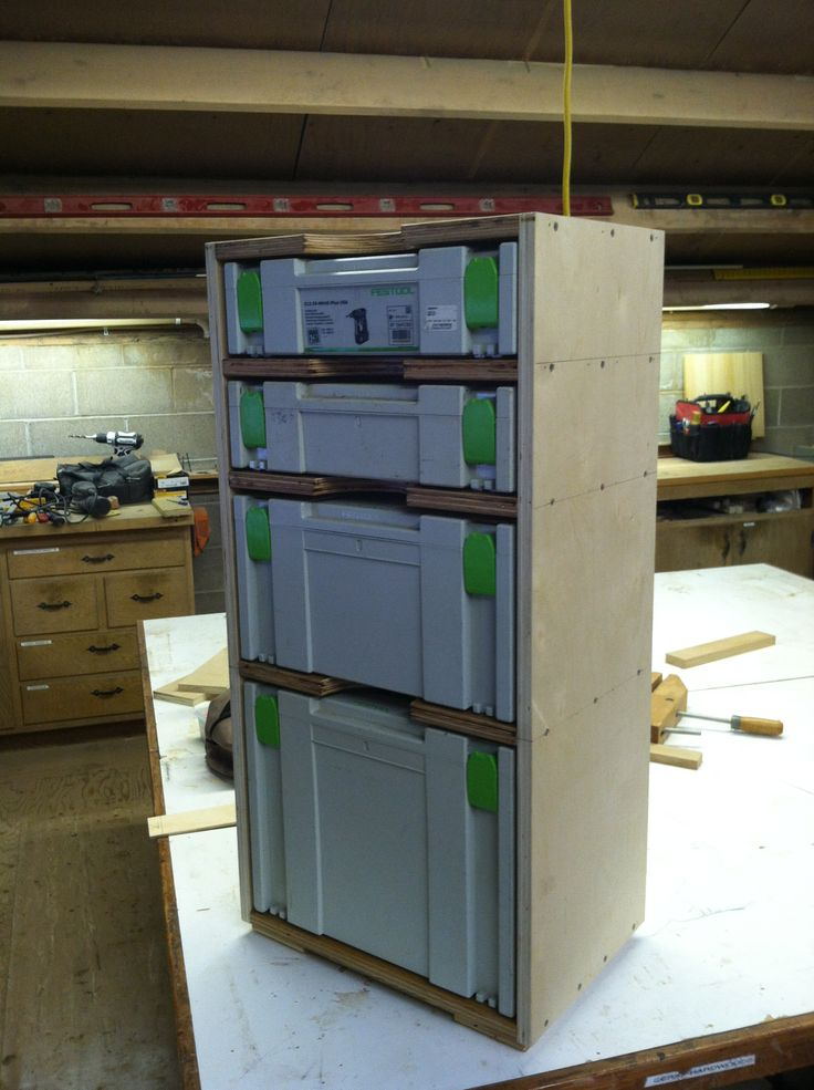 Custom Festool Tool Box Cabinet Woodworking Inspiration