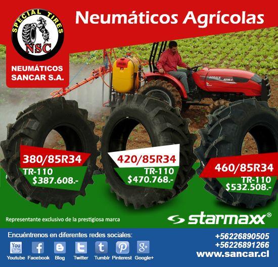 Líderes en Neumáticos para uso agrícola y mucho más