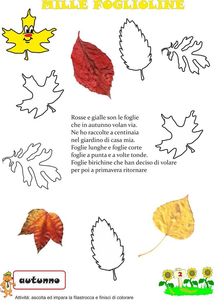 Filastrocca foglie autunno
