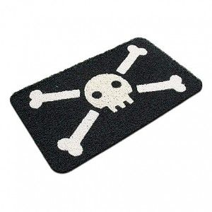 Felpudo Calavera Pirata / Jolly Roger Pirate Doormat · Tienda de Regalos originales UniversOriginal