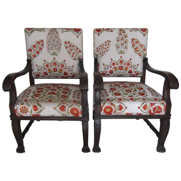 Pair of Antique Armchairs | From a unique collection of antique and modern armchairs at https://www.1stdibs.com/furniture/seating/armchairs/