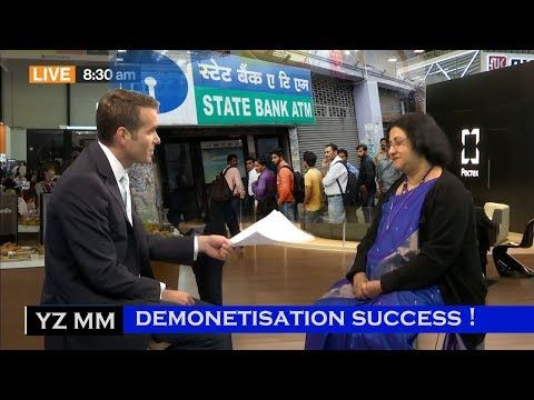 (6) American Media on Demonetisation's Success | Discussion with SBI Chairman Arundhati Bhattacharya | - YouTube
