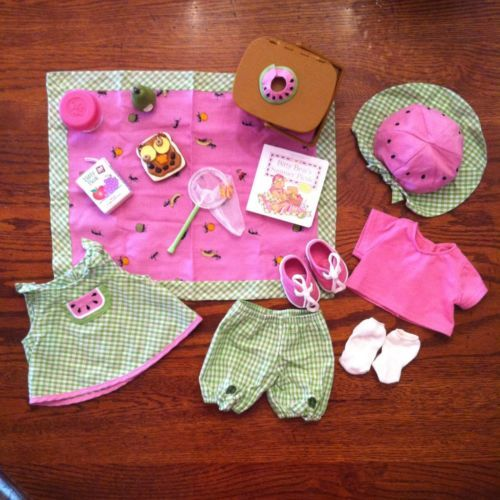 American Girl Bitty Baby Summer Picnic Outfit Set in Original Box Retired | eBay