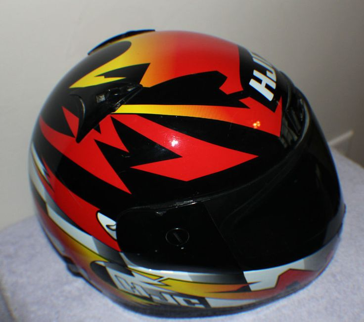 SHOEI HJC MOTORCYCLE HELMET SNELL M95 INCLUDING STORAGE BAG AWESOME GRAPHICS!!! #Shoei