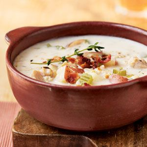 New England Clam Chowder - 25 Best Soup Recipes - Cooking Light